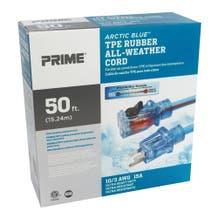 Prime Arctic Blue 10/3 Rubber Extension Cord 50' LT530930