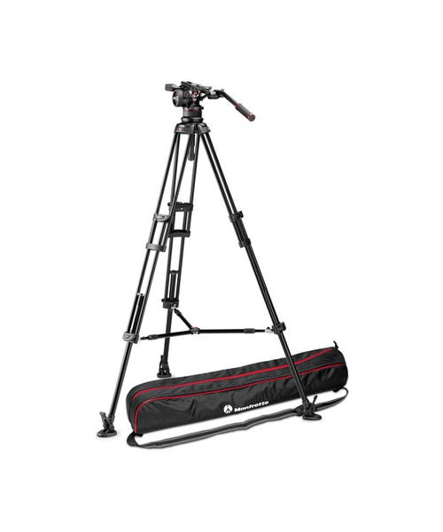 Manfrotto Nitrotech N12 Video Head & 545B Twin-Leg Tripod System with Mid-Level Spreader
