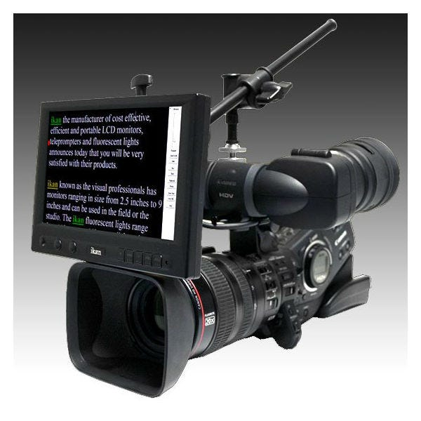 "Ikan 8"" 16:9 Portable Teleprompter Kit (Over Lens)"