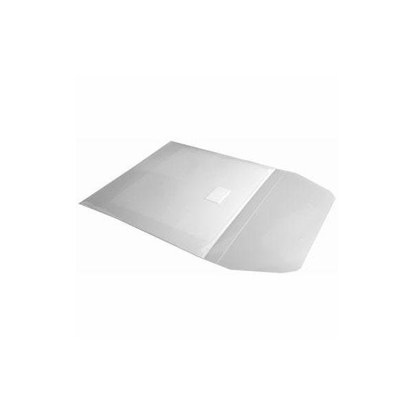 Polyline Adhesive CD Sleeve - 105-10106 - Clear - Polypropylene - Resealable Flap - 1000pc