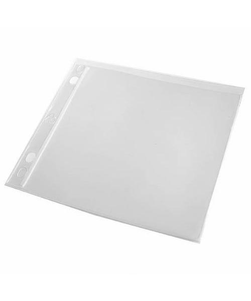 Polyline CD Binder Sleeve - 2- or 3-Ring Binders -Vinyl - No Flap - 2 Pocket - 500