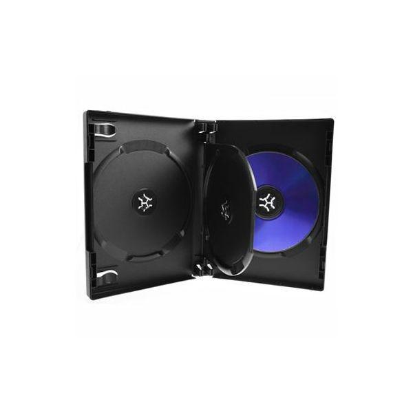Polyline 3-Disc VERSApak 27mm Spine DVD Case - Black (60 Pack)