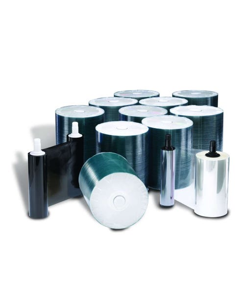 Rimage DVD-R 16X Media Kit Everest I/II/III - 1000 DVDs, 1 Black Ribbon, 2 Retransfer Rolls