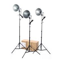 RPS Studio 3 Light Photoflood, Reflector & Stands Studio Kit RS-4003