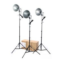 RPS Studio 3 Light Photoflood, Reflector & Stands Studio Kit RS-4003