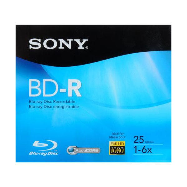 Sony 6X Branded Recordable 25GB Blu-Ray - 3pc