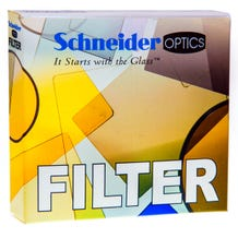 "Schneider Optics 4 x 5.65"" Graduated Neutral Density (ND) 1.2 Water-White Glass Filter - Hard Edge with Horizontal Orientation"