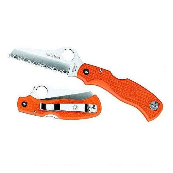 Spyderco Frn Rescue Serrated Edge Knife - Orange