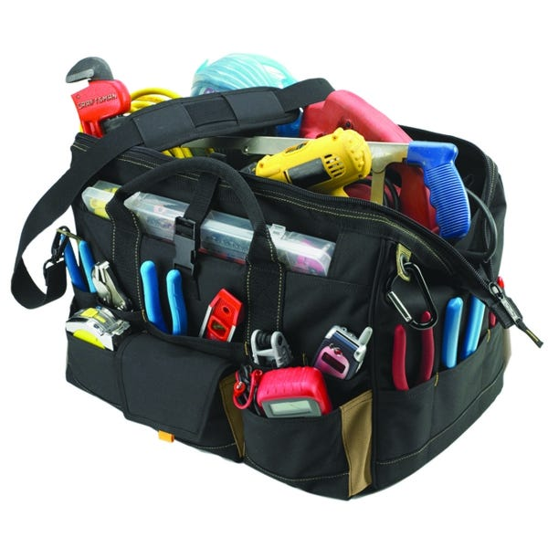 "CLC Work Gear 18"" Tote Bag w/ Top Plastic Tray"