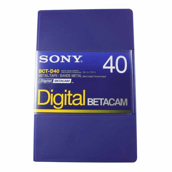Sony Digital Betacam Video Cassette 40min