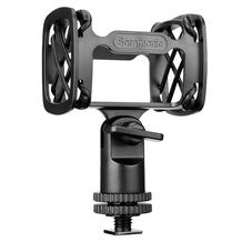 "Saramonic SR-SMC10 Universal Shock Mount For Shotgun Mics - With Cold Shoe 1/4""-20, 3/8"", & 5/8"" Mounting Options"