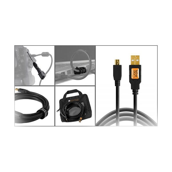 Tether Tools Starter Tethering Kit with USB 2.0 Mini-B 5-Pin Cable - Black