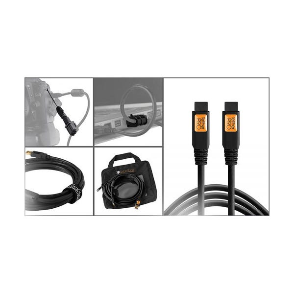 Tether Tools Starter Tethering Kit with FireWire 9-Pin Cable - Black