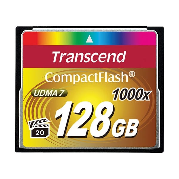 Transcend 128GB Ultimate 1000x UDMA CompactFlash Memory Card