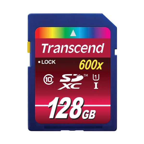 Transcend 128GB Ultimate 600X UHS-1 SDXC Memory Card