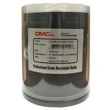 CMC Pro Taiyo Yuden 16X PrintPlus White Inkjet Hub Printable Semi Gloss 4.7GB DVD-R - 100pc