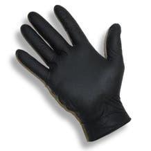 Black Industrial Nitrile Gloves - Powder-Free, X-Large - 50 Pack (100 Gloves)
