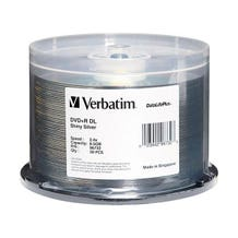Verbatim 8X DataLifePlus Shiny Silver Silk Screen Printable 8.5GB DVD+R - 50pc