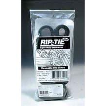 """Rip-Tie hook and loop Cable Ties. Black 10 Pack. 1/2"""" x 12"""""""