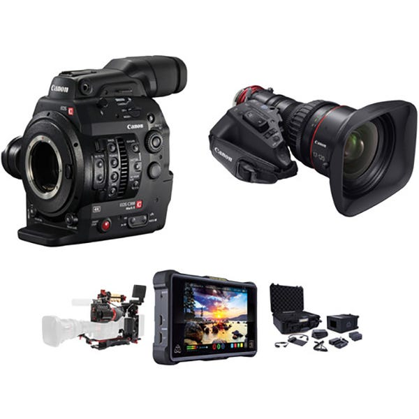 Canon Cinema EOS C300 Mark II EF Mount Zacuto ENG Package